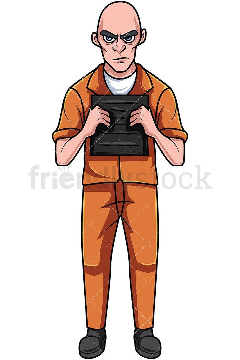 Slavery clipart criminal. Convicted felon in orange