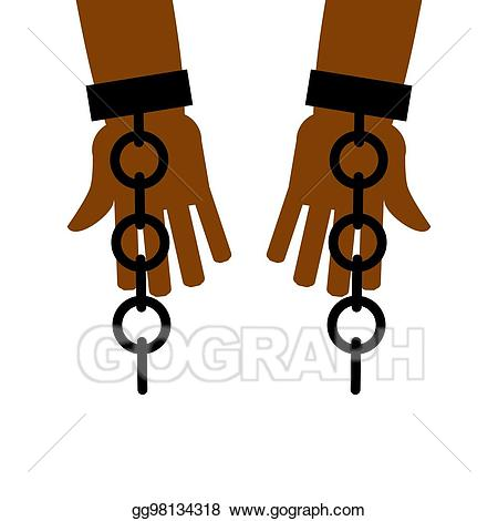 Eps vector emancipation from. Slavery clipart cuffed hand