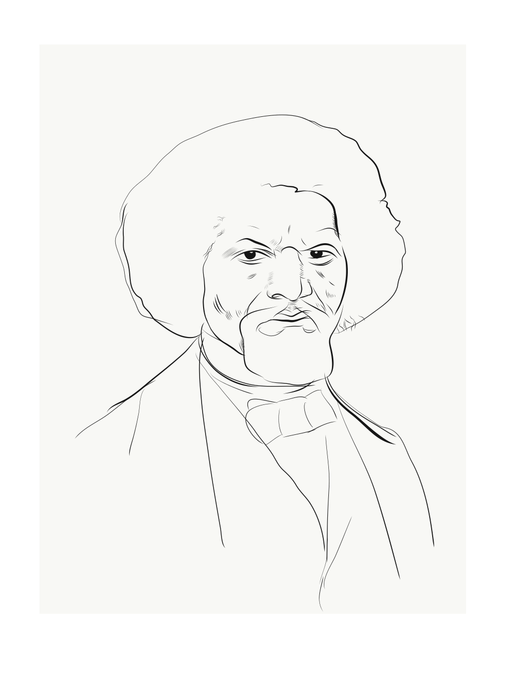 Slavery clipart easy drawing. Frederick douglass at getdrawings