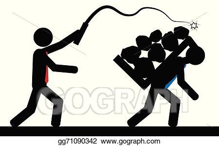 Slavery clipart illustration. Vector gg
