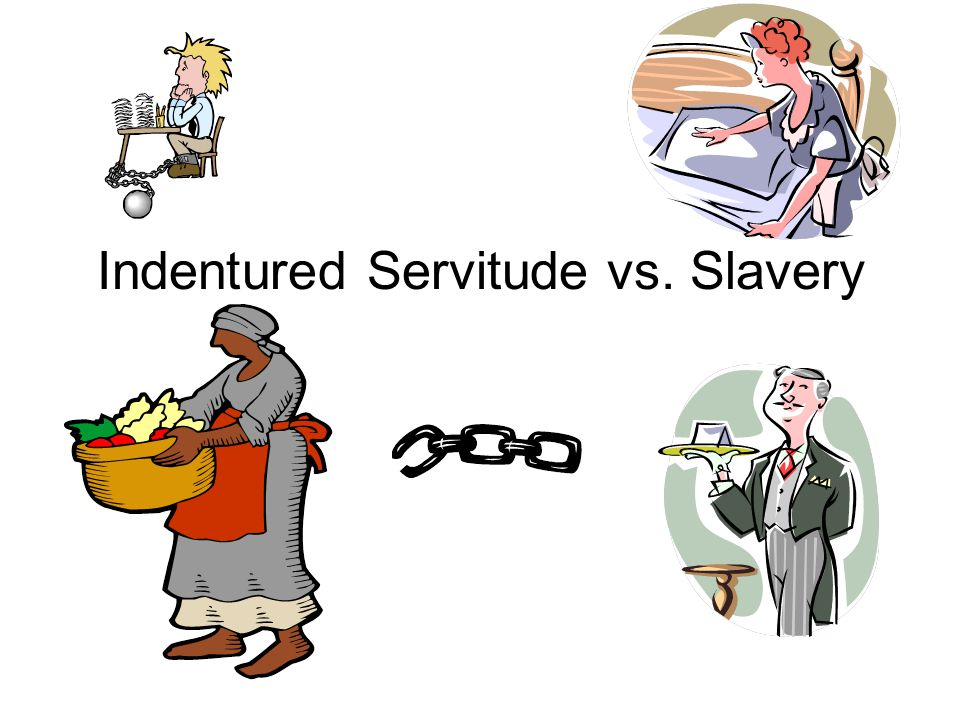 Servitude vs . Slavery clipart indentured servant