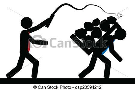 slavery clipart latigo