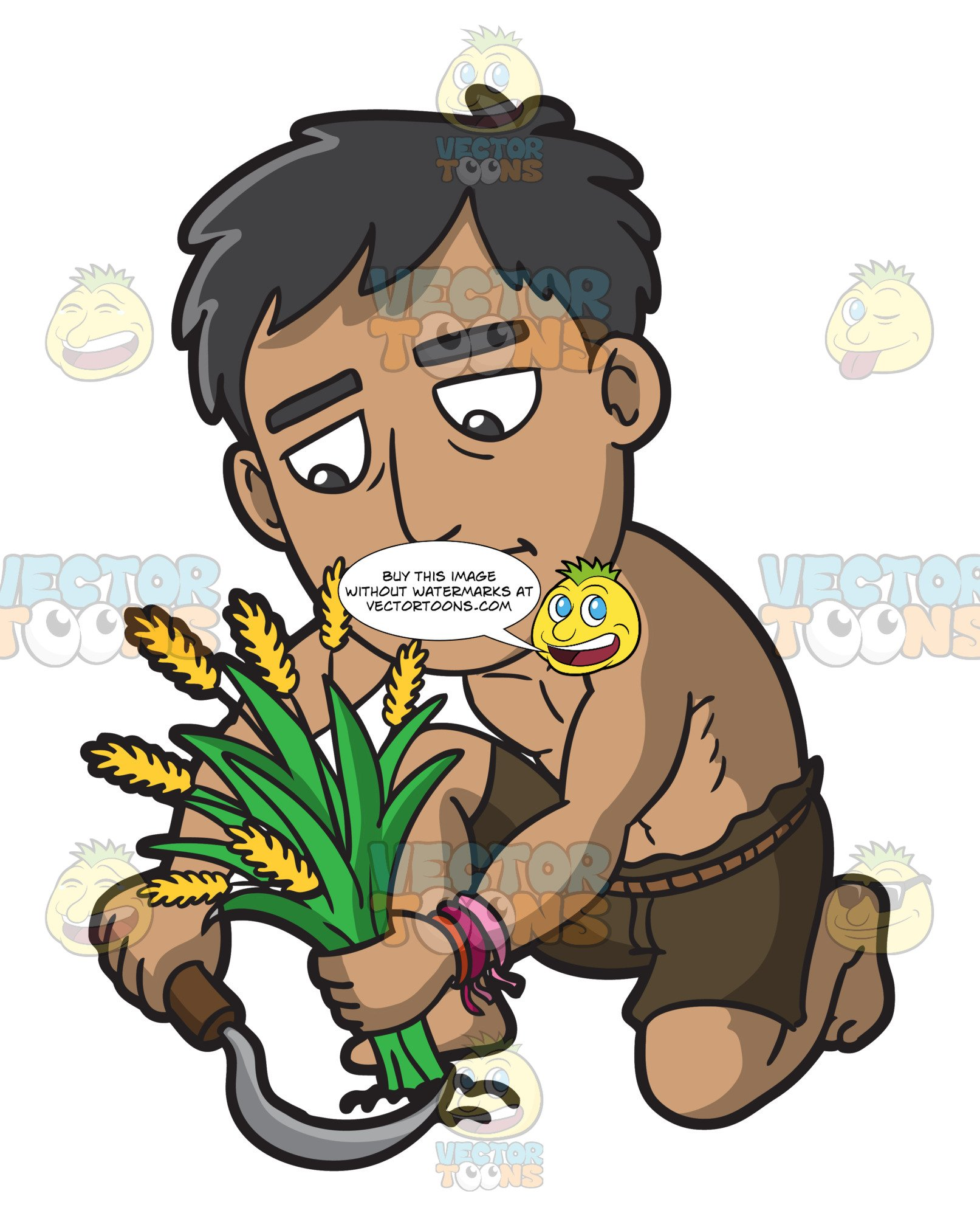 A male polynesian slave. Slavery clipart poor worker