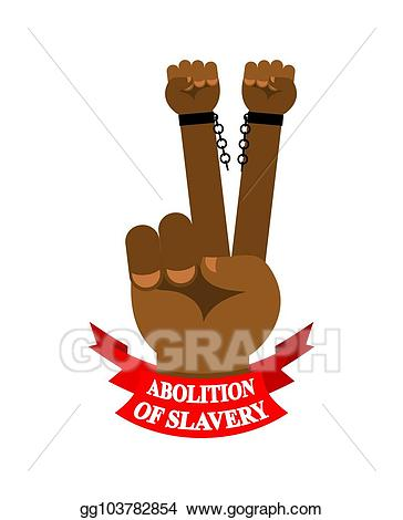 Slavery clipart slavery abolished. Vector art abolition of