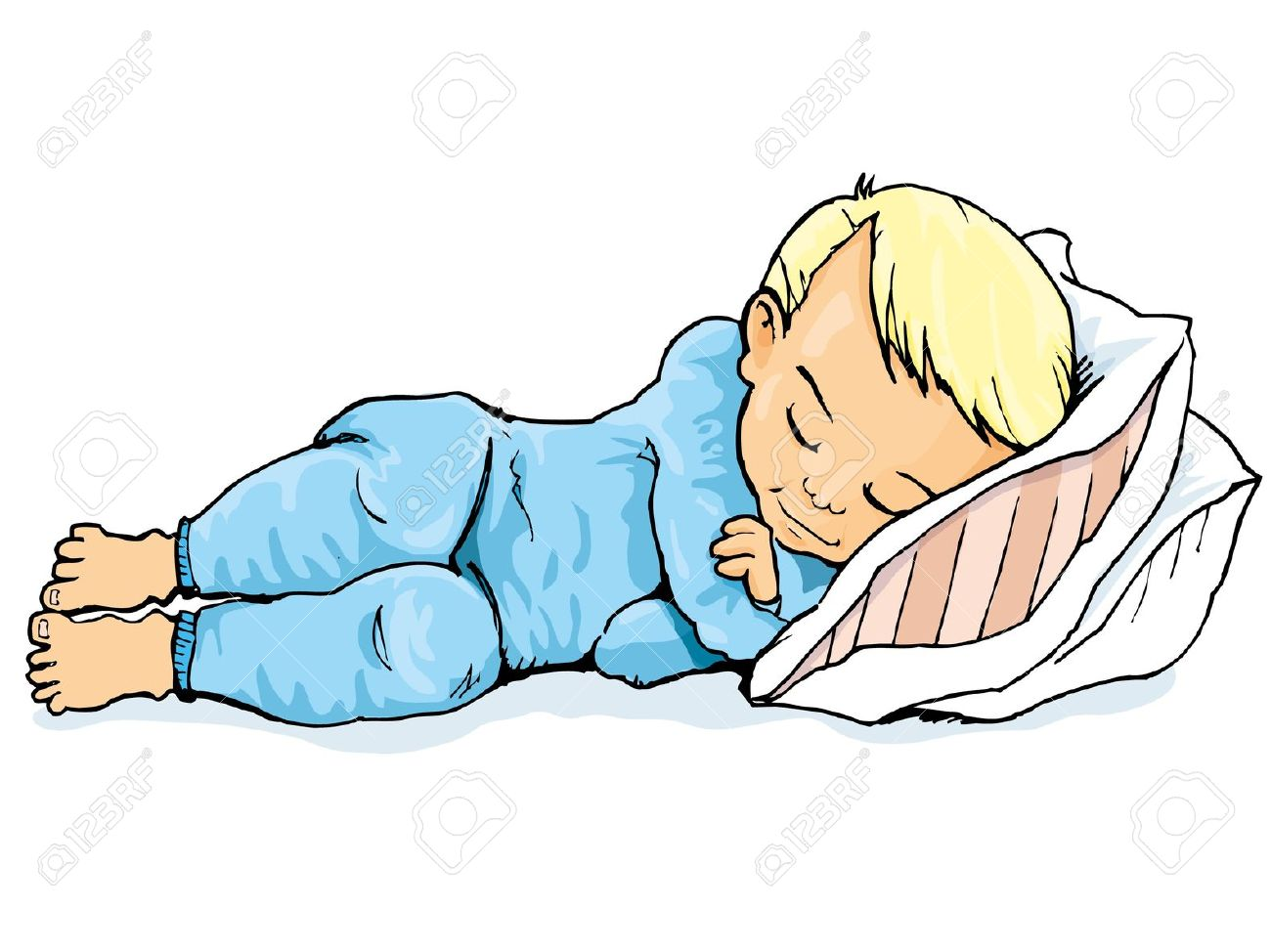 Sleeping clipart. Boy