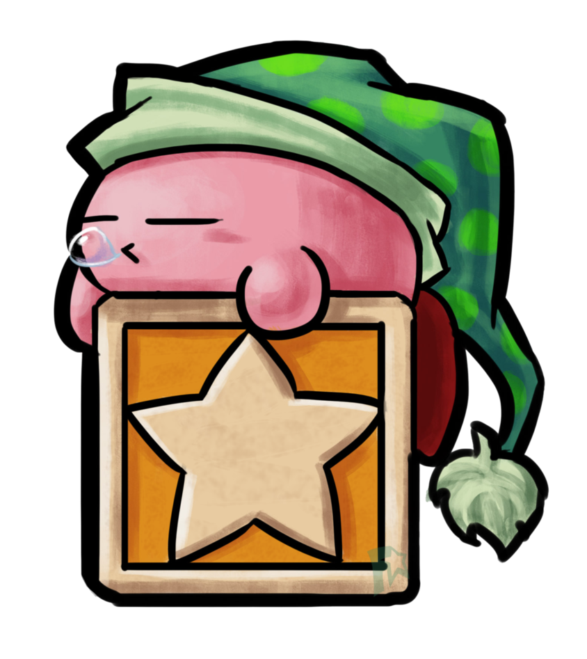 Kirby by frostystar on. Sleeping clipart poor sleep