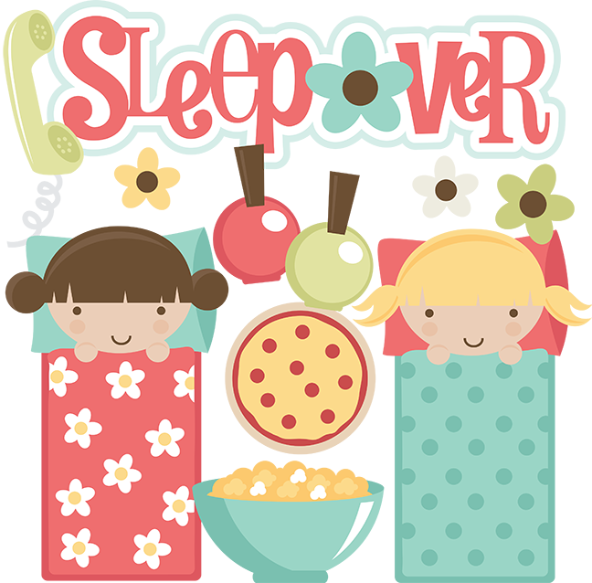 Holidays clipart pajama party. Sleepover svg files for