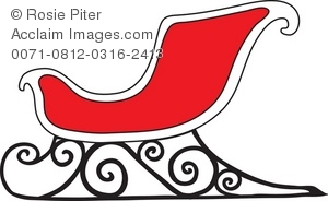 Royalty free illustration of. Sleigh clipart