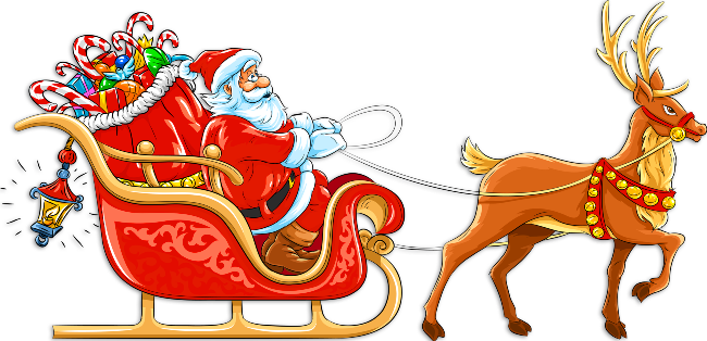 Sleigh clipart. Christmas santa s santas