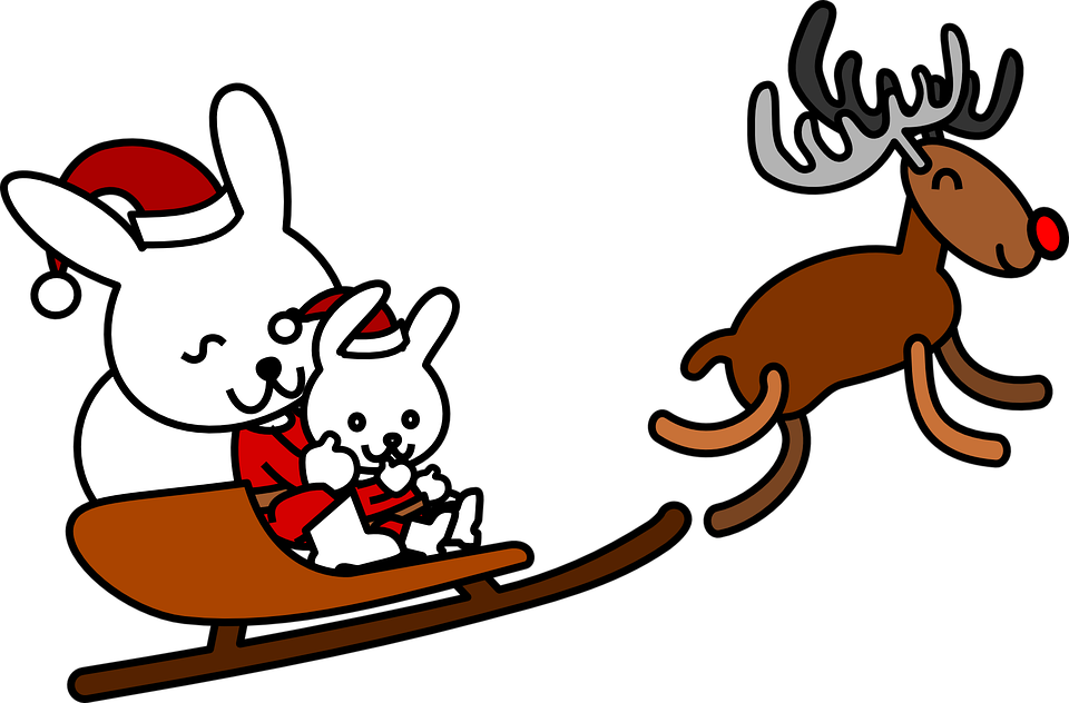 Sleigh clipart animated. Santa shop of library