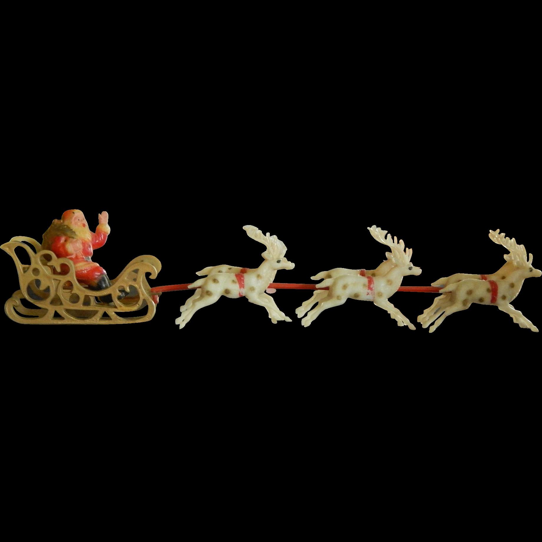 Sleigh clipart christmas sleigh ride. Santas reindeer romeo landinez