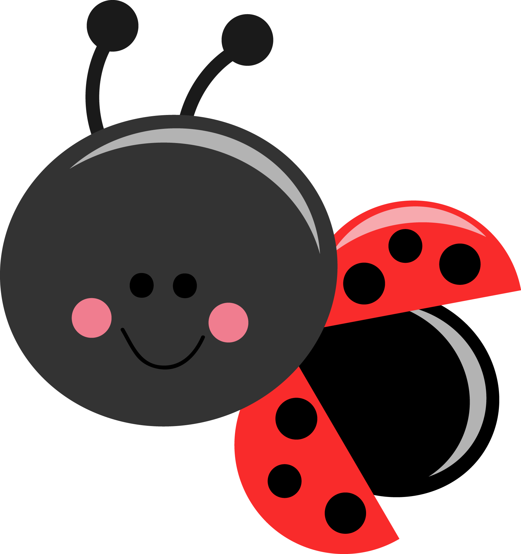 Beetle ladybug free collection. Sleigh clipart cute