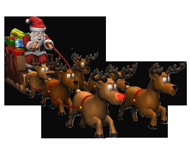 Santa png picture gallery. Sleigh clipart deer