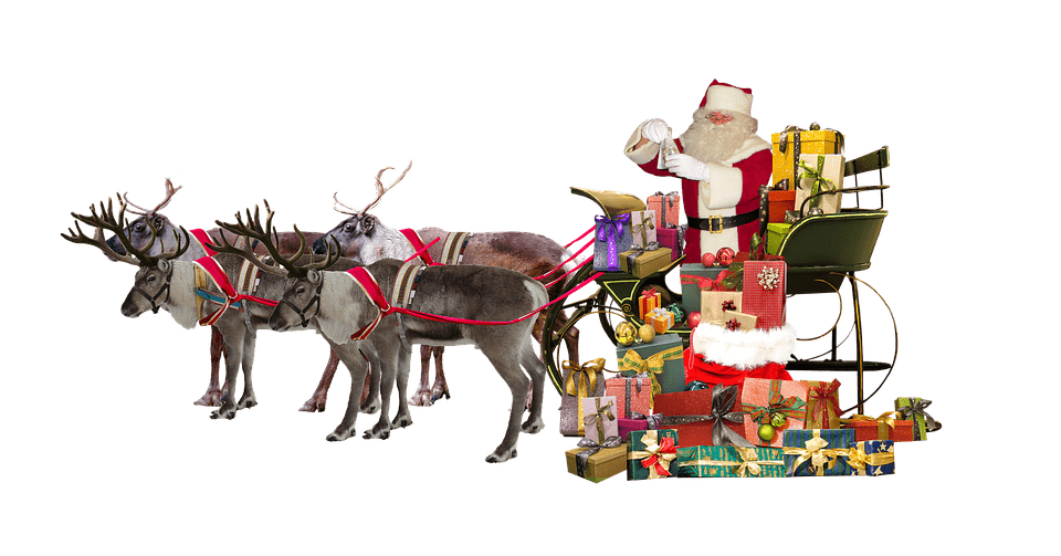 Christmas transparent png images. Sleigh clipart deer