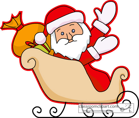 Free santa download best. Sleigh clipart easy