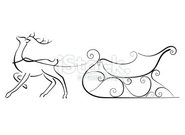 Sleigh clipart easy. Minimal image of a