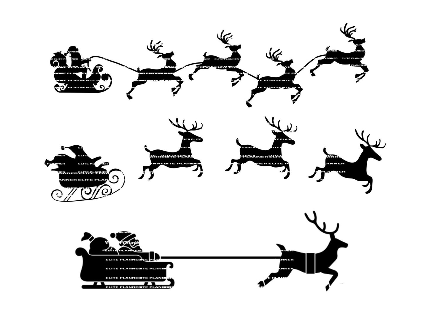 Sleigh clipart fancy. Free reindeer cliparts download