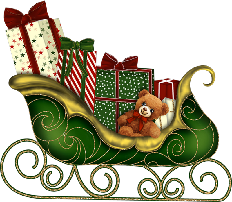 Santa png images free. Sleigh clipart green