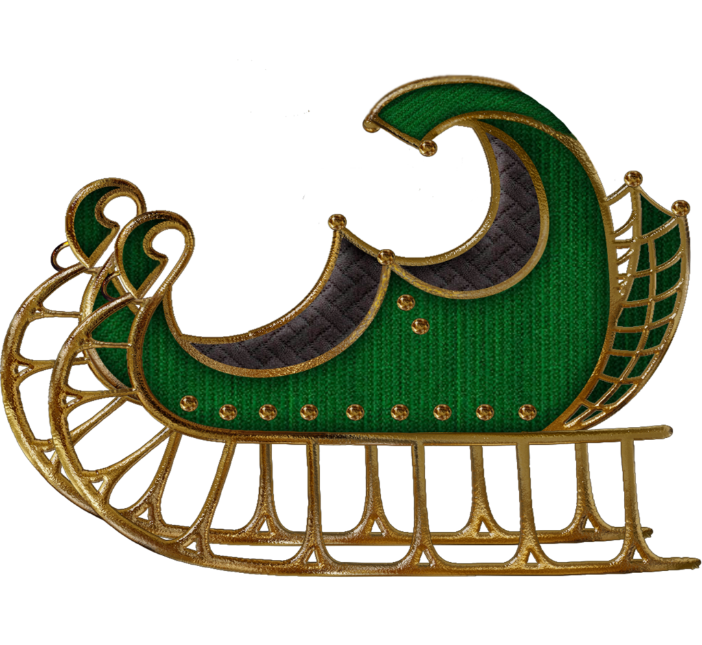 Sleigh clipart green. Sled by roula on