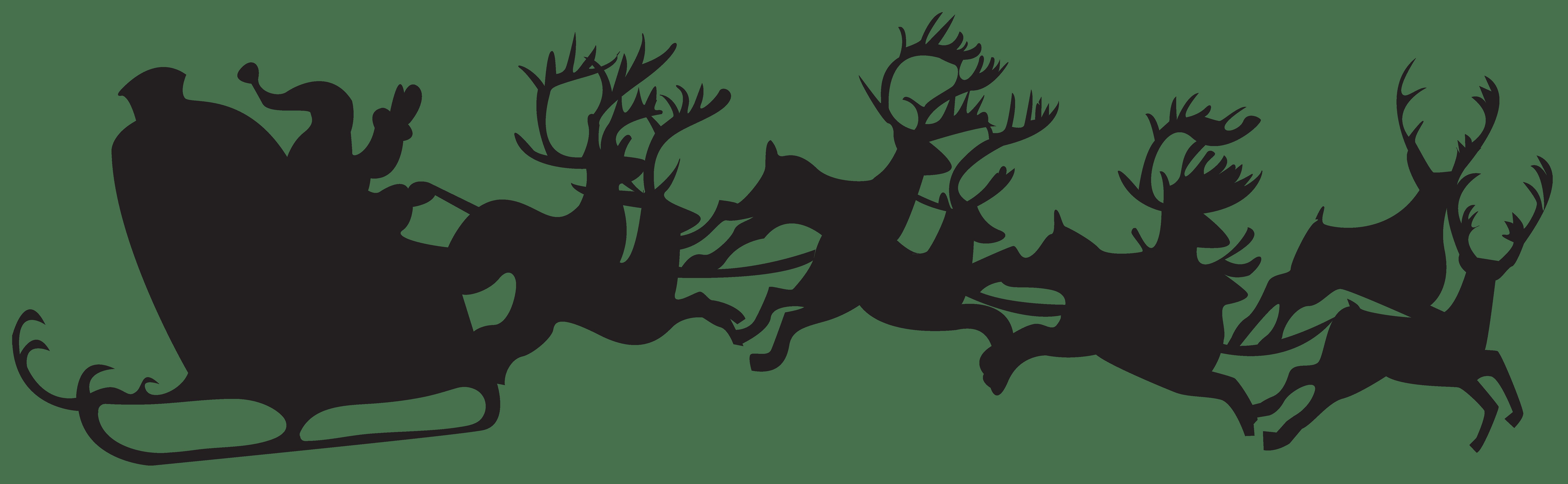 Sleigh clipart grinch. Christmas silhouette clip art