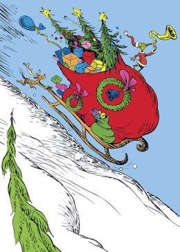 Amazon com christmas cards. Sleigh clipart grinch