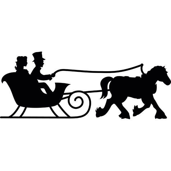One silhouette yahoo image. Sleigh clipart horse