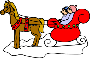 Sleigh clipart horse. Free winter cliparts download