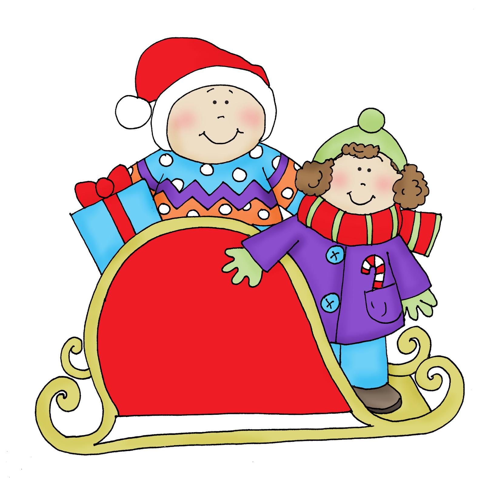 sleigh clipart kid