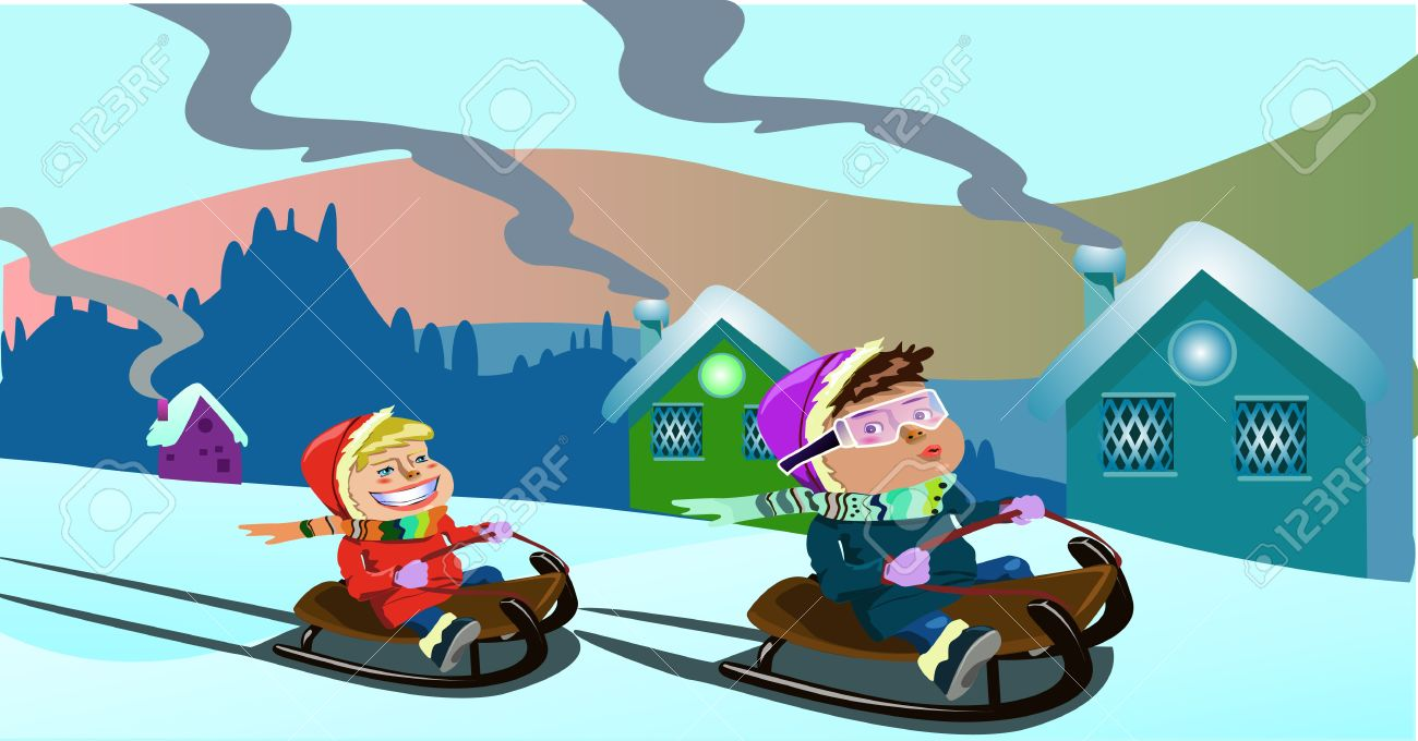 Sleigh clipart kid. Free winter cliparts download