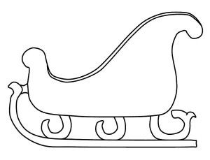 Sleigh clipart outline, Sleigh outline Transparent FREE ...