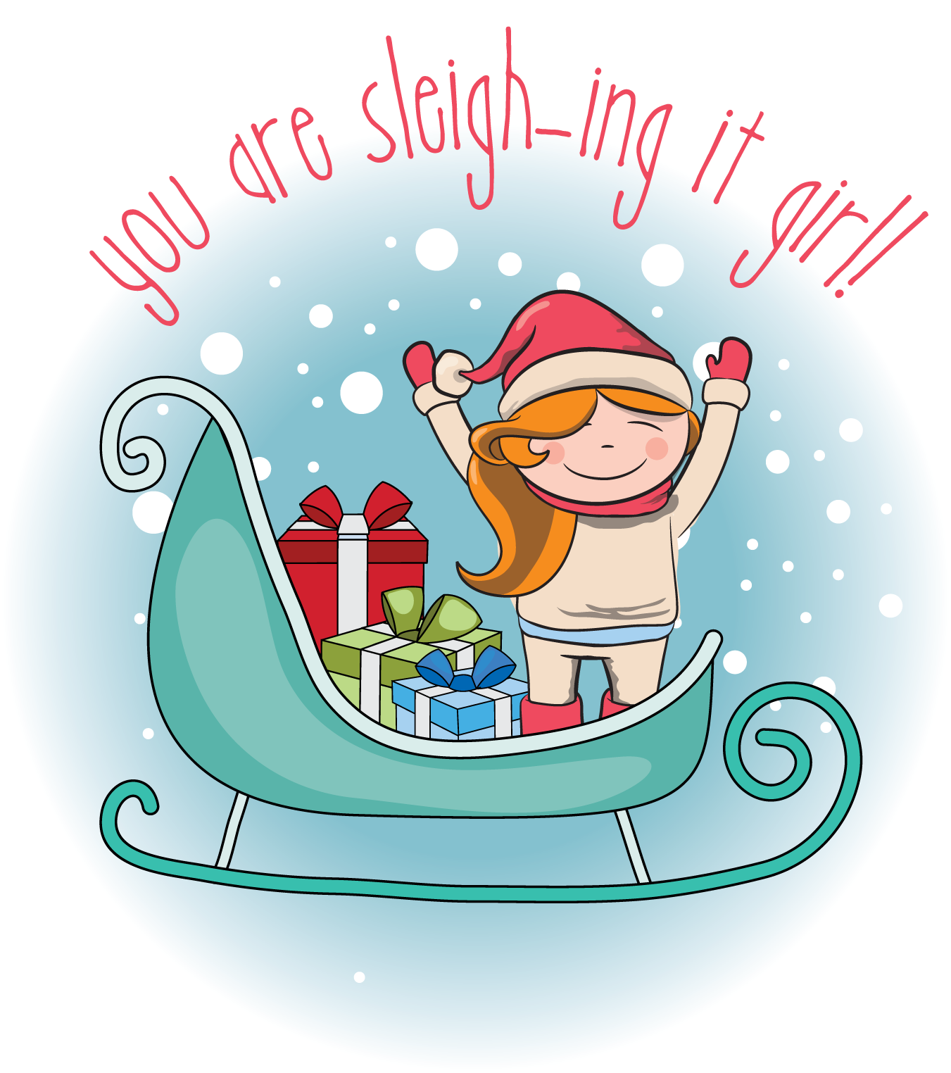 It girl free planner. Sleigh clipart printable