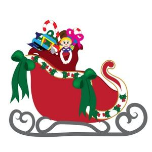 Free santa download best. Sleigh clipart printable