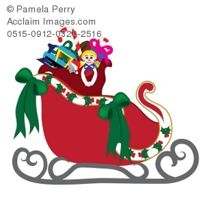 Stock photography acclaim images. Sleigh clipart red sleigh