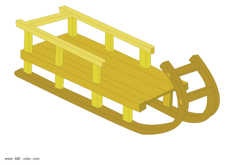 Sled raster download bitmap. Sleigh clipart riding