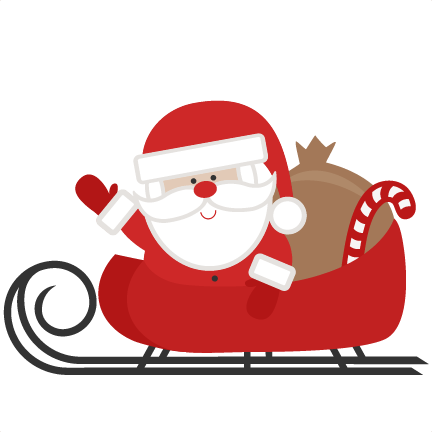 Sleigh clipart simple. Free santa download best