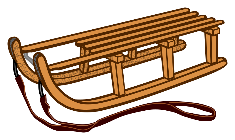 Sleigh clipart sled. Sledge coloured medium image