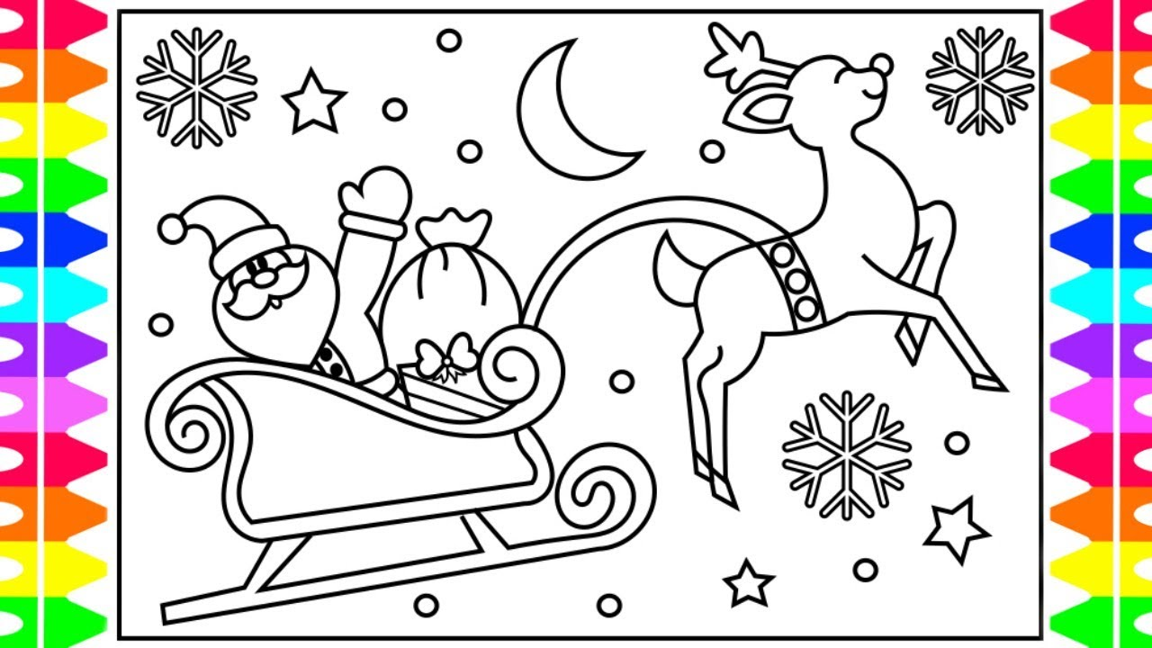 How to draw santa. Sleigh clipart step by step