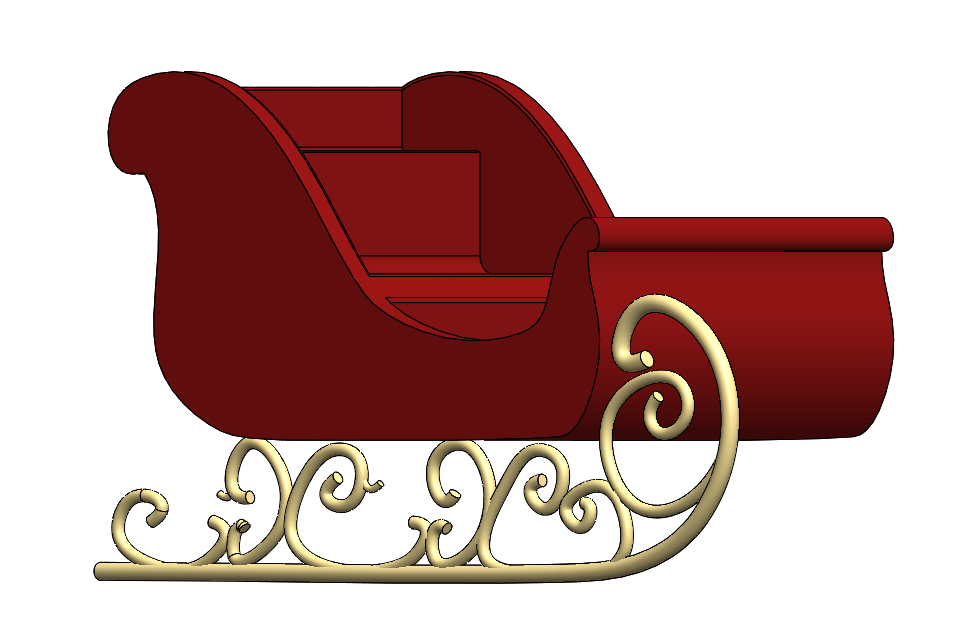 Sleigh clipart step by step.  days of christmas