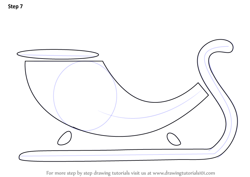 Sleigh clipart step by step. Learn how to draw
