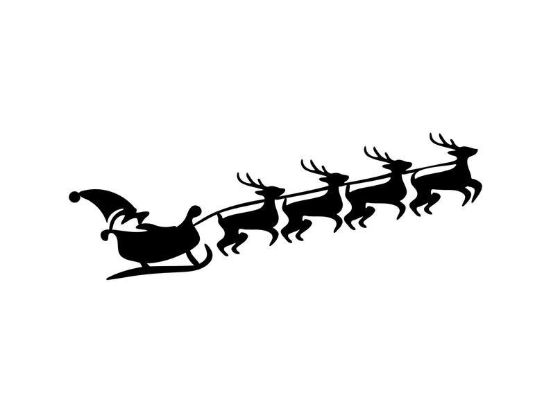 sleigh clipart svg