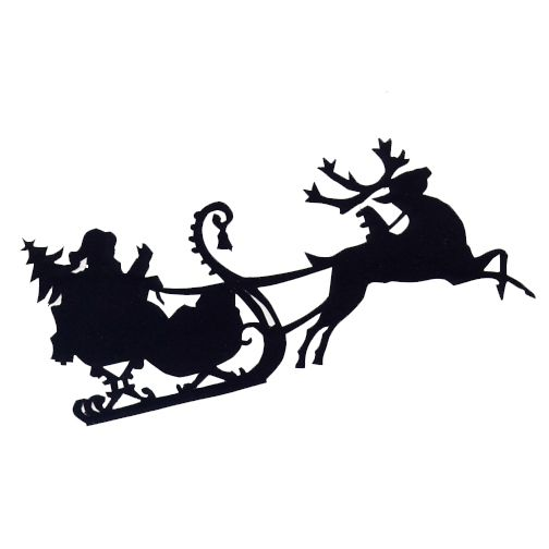 Pin on silhouette cameo. Sleigh clipart svg