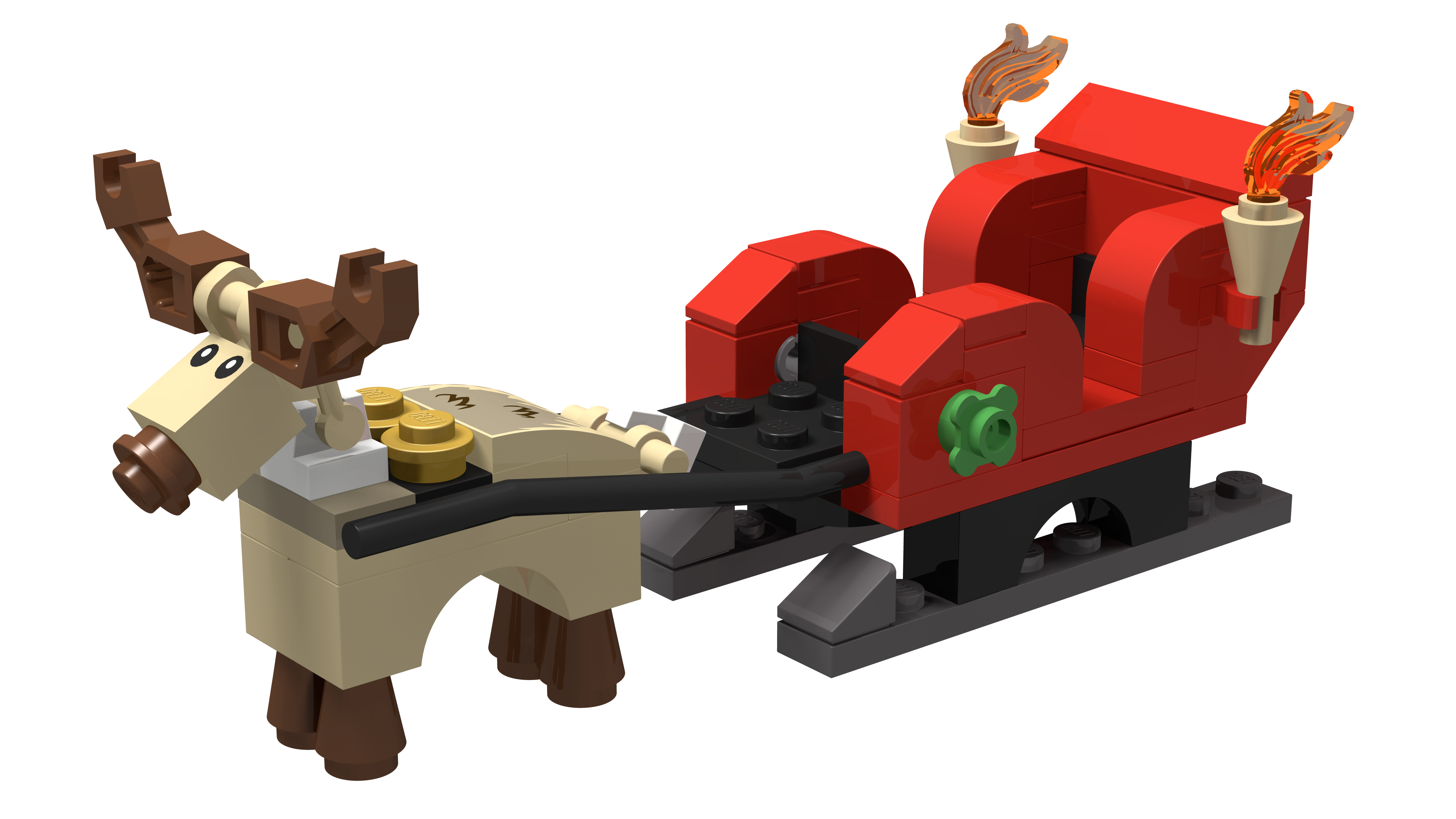 Have a lego christmas. Sleigh clipart toy
