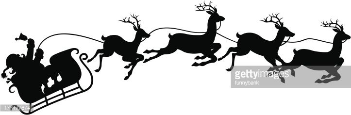 Drawing of santa s. Sleigh clipart vector