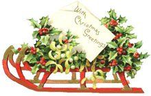 Sleigh clipart vintage. Christmas sleighs and cars