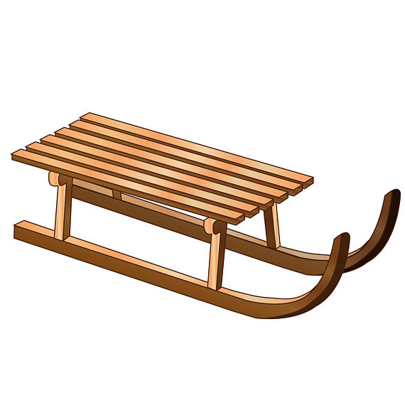 Sleigh clipart wooden sled. Pin on products