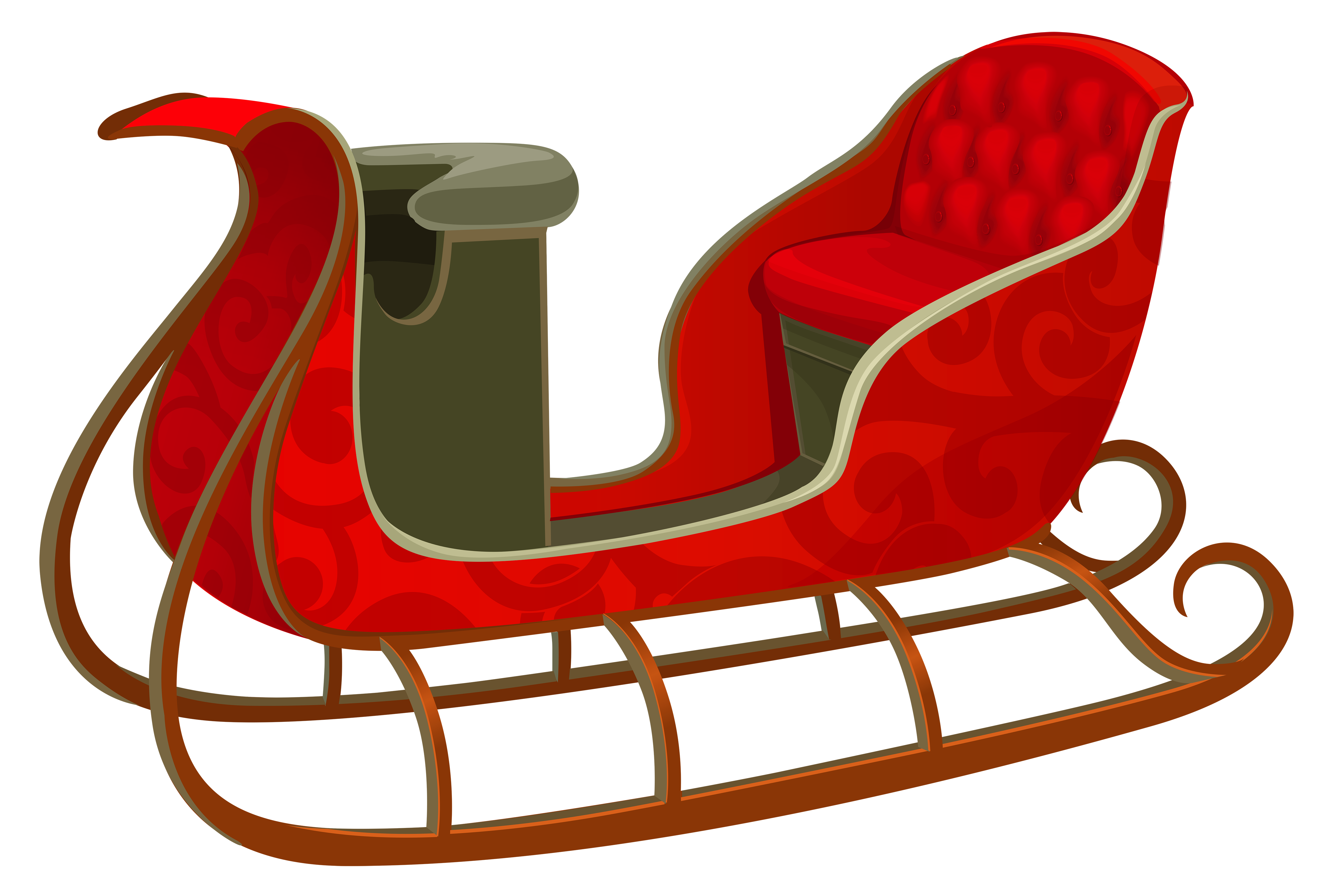 collection of red. Sleigh clipart wooden sled