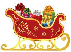 Sleigh clipart. Santa claus ppt free
