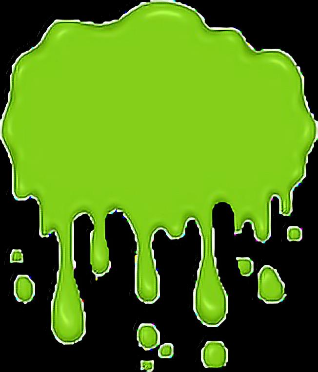 scgreen green slime lime sludge sticker beach spooky