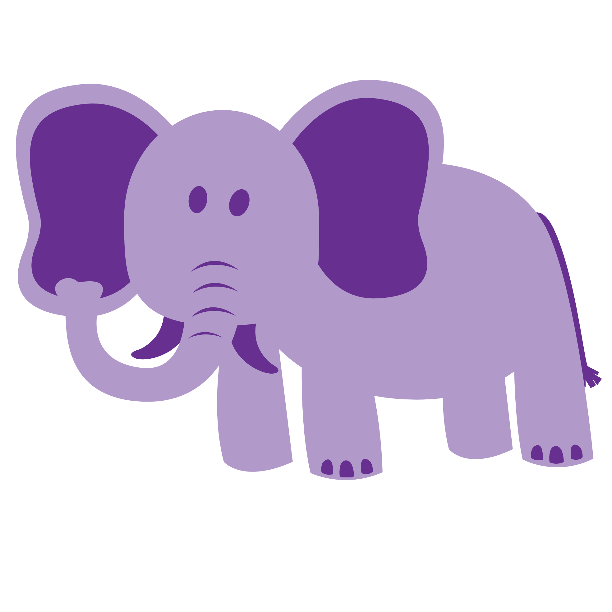 Purple elephant clipart