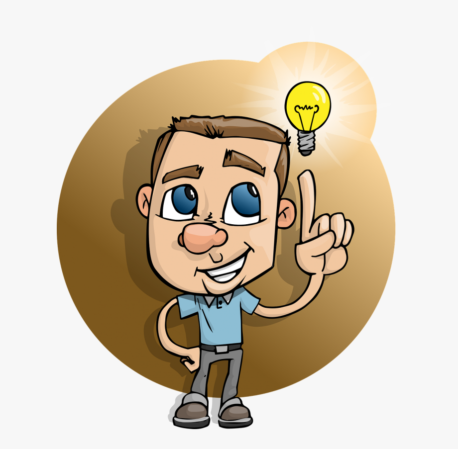 Lamp clipart intelligent. Boy smart idea light